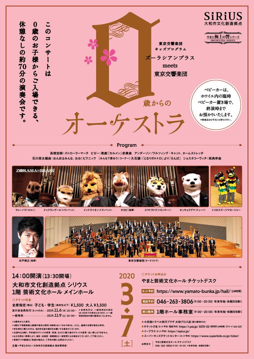 【公演中止】東京交響楽団キッズプログラム0歳からのオーケストラ~ズーラシアンブラス meets 東京交響楽団