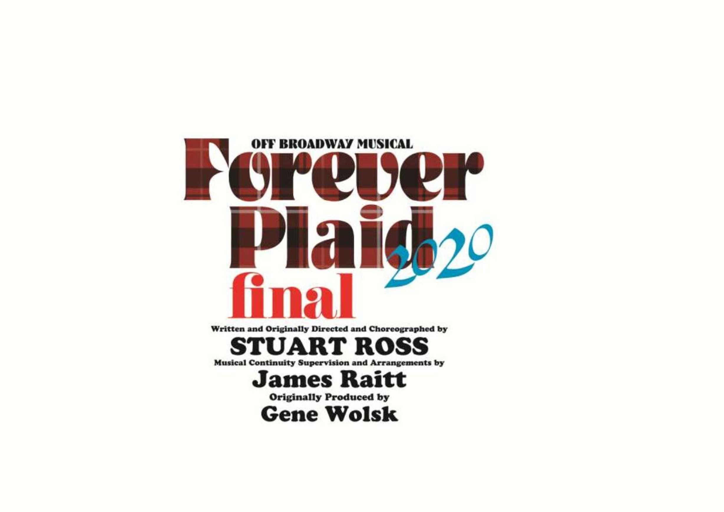 【公演延期→公演中止】オフ・ブロードウェイ・ミュージカル「Forever Plaid/フォーエヴァー プラッド」